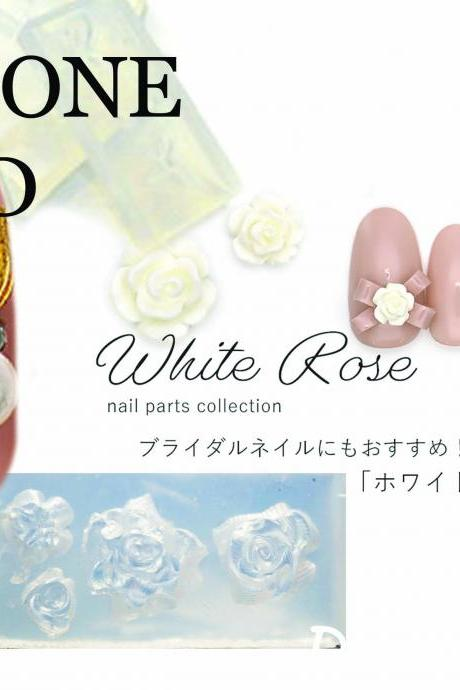 Nail Dipping Nail Silicone Carving Mold Rose DIY Nail Art Decoration 3D UV Gel Soft Decorations Manicure Tools